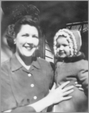 Anne holding daughter, Helen